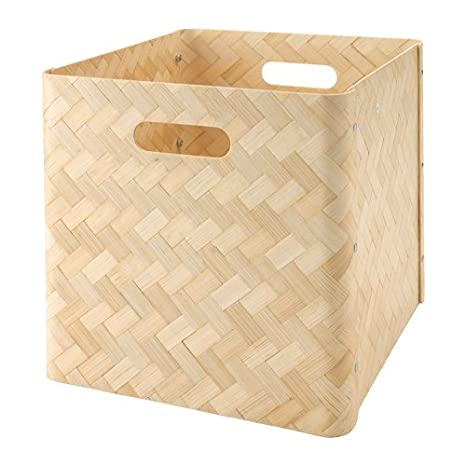 Ikea bullig Caja de bambú; apta para estanterías de Kallax; (32 x 35 x 32 cm): Amazon.es: Hogar