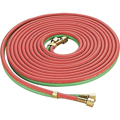 Twin Welding Torch Hose Oxy Acetylene Oxygen Cutting 300PSI Industrial Red & Green NEW (25ft)