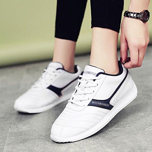 Plat Blanc Blue de Étudiant Course HWF Sport Printemps Chaussures Casual Femmes Chaussures dark Dark taille White Plate femme White Chaussures Chaussures Couleur blue 40 Pw8xP6