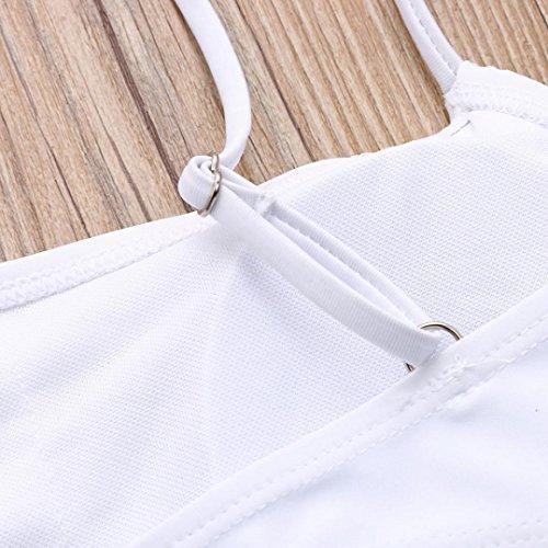 da mare Bikini bagno fascia da Bagno Costume fasciatura da Donna bagno da a Swimsuit donna brasiliano Up Push Bianco Costume Beachwear Sysnant Swimwear Solido 6qwUtxZt