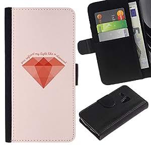 All Phone Most Case / Oferta Especial Cáscara Funda de cuero Monedero Cubierta de proteccion Caso / Wallet Case for Samsung Galaxy S3 MINI 8190 // MINIMALIST DIAMOND