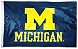 University of Michigan (Wolverines) – 3′ x 5′ NCAA 2-Sided Nylon Applique Flag