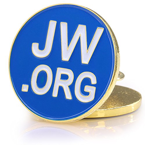 503dbd10359d Jw.org Metal -Blue And Gold Color - Necktie bar Clip and Lapel - Import It  All