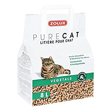 Arenero gato vegetal natural 8llettiera ecológica para gatos de fibra de madera, Si può gettare Nel Composter: Amazon.es: Electrónica