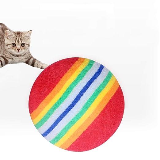LWBUKK Pelota For Mascotas, Bola De Arco Iris De Esponja Duradera ...