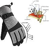 Andake Ski Gloves, Snowproof 3M Thinsulate Waterproof TPU...