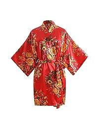HHmei Women's Sexy Print Blossom Sleepwear Gown Bath Lingerie Nightdress Pajamas