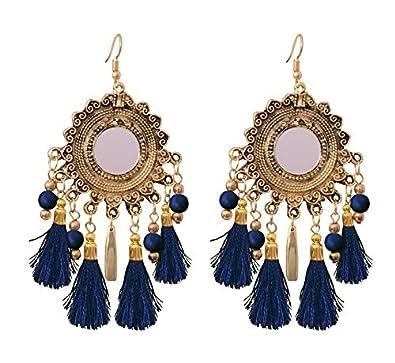 Buy Sitashi Fashion Jewellery Trendy Mirror And Tassel Metal