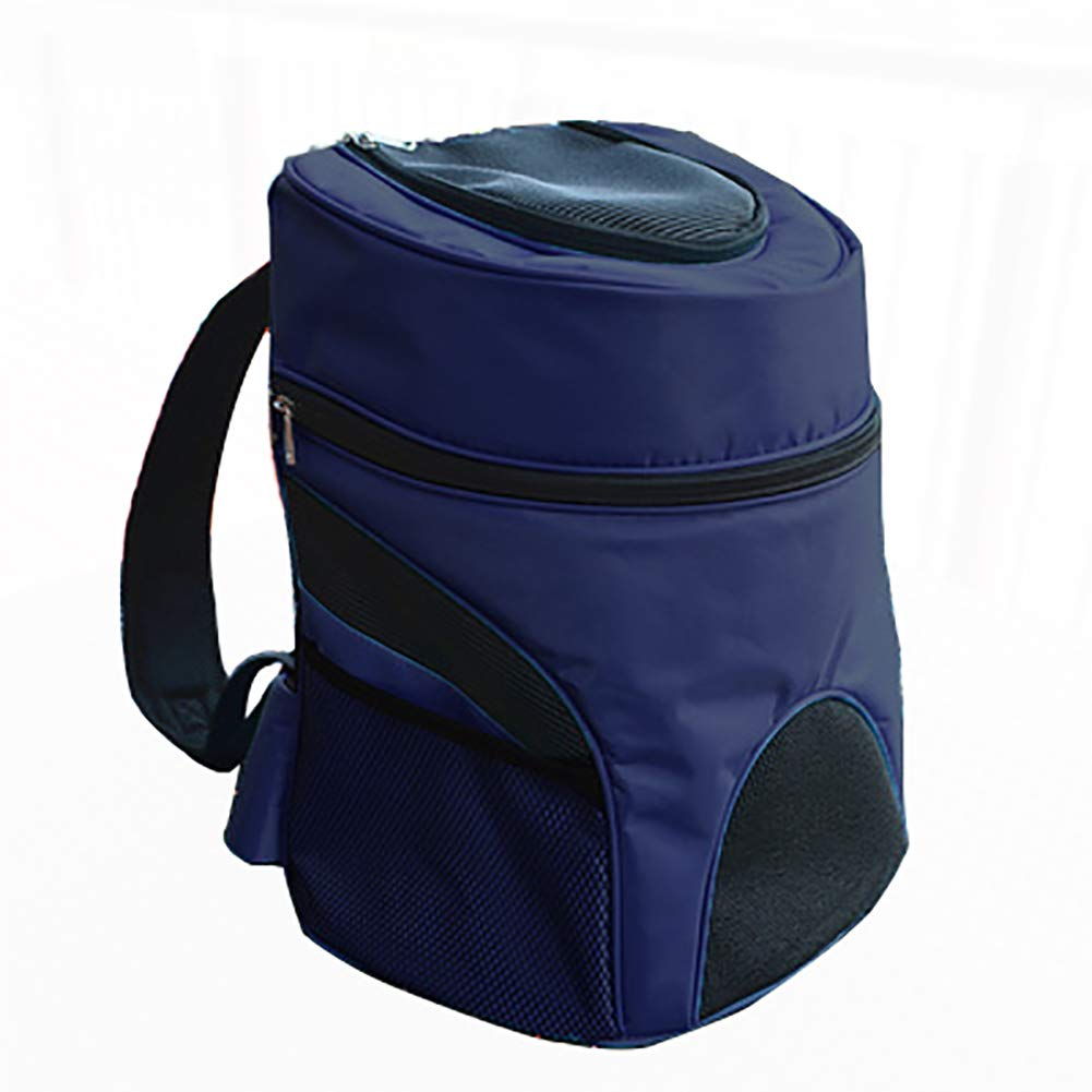 Darkbluee TSTLCLLMZ Pet Carrier Backpack Mesh Top Opening Soft Sided Pet Backpacks Outdoor Travel Bag for Dogs and Cats