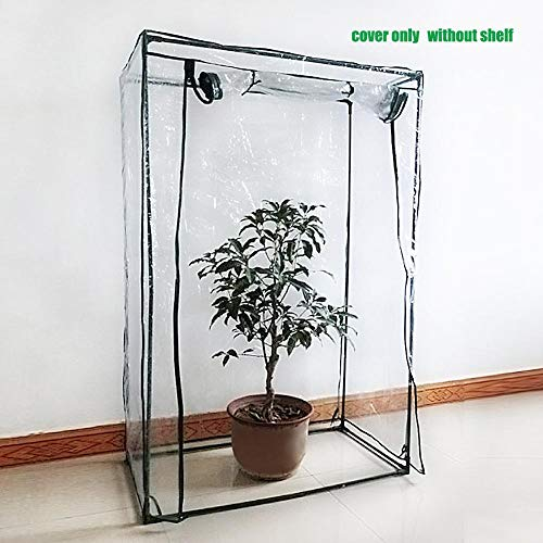 Dynamicoz Garden Greenhouse,Greenhouse Tent Mini Plants Grow House Garden Waterproof Corrosion-resistant Plants Strong Reinforced Cover,100 * 50 * 150cm(Delivery without iron frame)