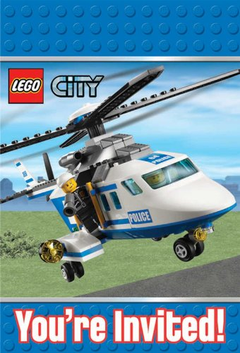 Lego City Invitations Party Accessory ()
