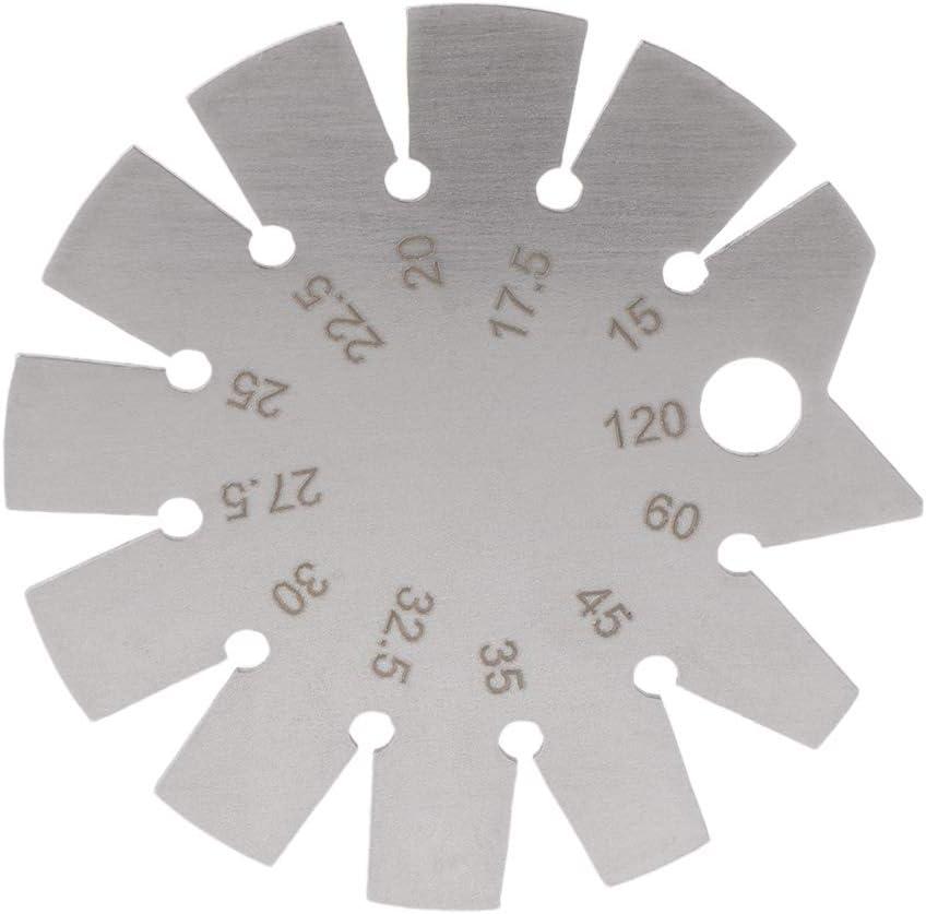 Fogun en acier inoxydable biseau Rapporteur dangle de jauge Gamme 15//° 120//° Jauge outils