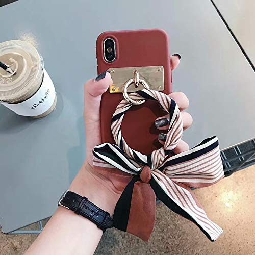 Maxlight for iPhone X XS XR XS MAX Case Luxury Jewelled Ribbon Silicone Soft Matte Phone Cases for iPhone X 8 7 Plus Back Cover (A, for iPhone Xs Max) (Sena Iphone 4s Leather Case)