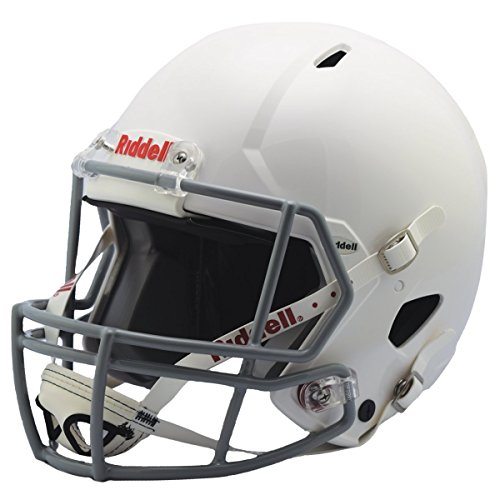 Riddell Revolution Helmets - Riddell Victor Youth Helmet, White/Gray, Medium