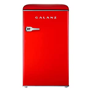 Galanz GLR35RDER Mini Fridge, Retro, Red