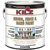 KILZ Exterior Siding, Fence, and Barn Paint, White, 1-gallon