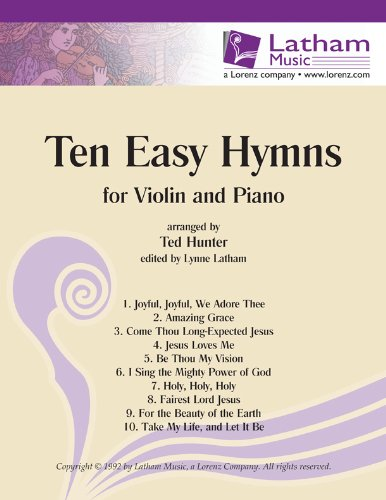 Ten Easy Hymns for Violin and Piano (String Solos & Collections, Violin, Piano)