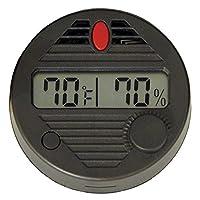 Higrómetro digital redondo HygroSet II para humidores, frecuencia de actualización de 10 segundos, batería incluida, +/- 2% de humedad y 1% de precisión de temperatura para humidores de cigarros, por importadores de calidad