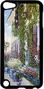 Claude Monet-The Artists House at Argenteuil- Case for the Apple Ipod 5th Generation-Hard Black Plastic