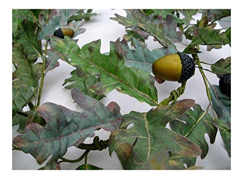 Oak Garland - Autumn Oak Leaf and Acorns Garland Fall Leaves Thanksgiving Home Decor 60