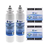 Tier1 Replacement LG LT800P, ADQ73613401, Kenmore 9490, 46-9490 Refrigerator Filter 2-Pack and LT120F Comparable Fresh Air Refrigerator Filter 2-Pack Combo