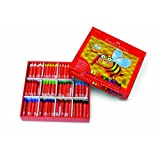 Faber-Castell - 240 Count- Jumbo Beeswax Crayons School Pack - Art Supplies For Kids (20 Sets of 12 Colors)