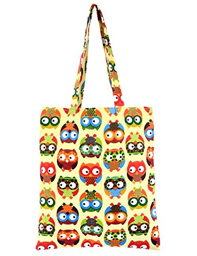 Tote Canvas Girl (POPUCT Fashion Cute Owl Pure Cotton Canvas Tote Bag)