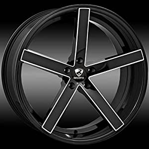 Ravetti M1 Black with Milled Spokes 22x8.5 Wheel / 5-112 mm Bolt Pattern / +38 mm Offset / 74.1 mm Hub Bore