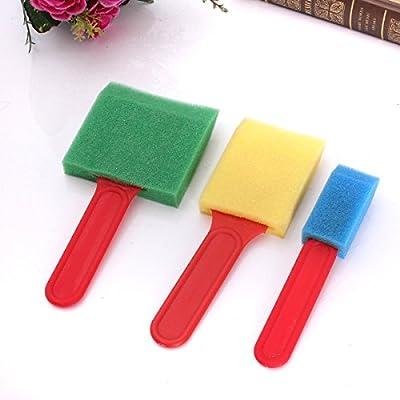 93552c7b12 Calli 3pcs spazzola schiuma spugna piatto larghezze assortite che applicano  strumento di pittura: Amazon.it: Casa e cucina