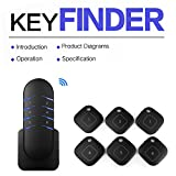 BIGFOX Anti-lost Bluetooth Auto Gps Tracker Locate Keys Item Finder Location with Transmitter Remote Shutter for Home Office Vehicle Kids (6 in 1)