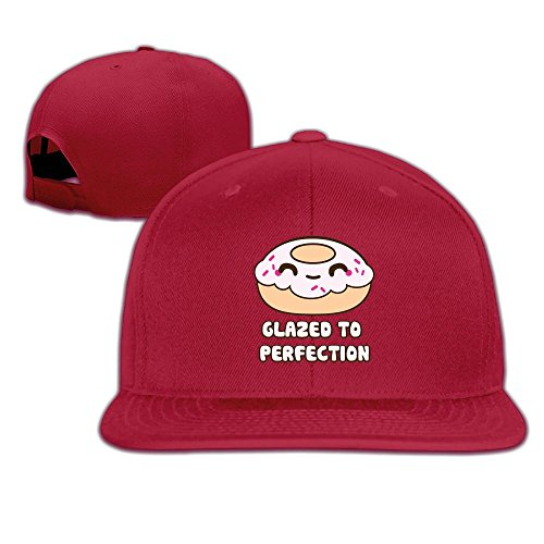 Joapron Glazed To Perfection Dount Unisex Causal Fitted Flat Bill Baseball Cap - Pizza Delivery Ipswich Hut