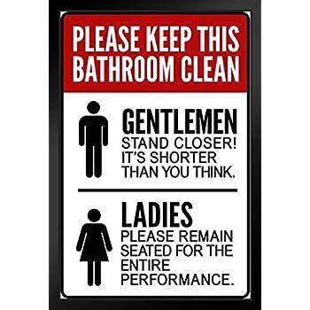 Amazon.com: Warning Sign Please Keep This Bathroom Clean ...
