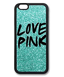 Black Case for iphone 6 Plus,Fashion Cool Art Love Pink Custom Protective Soft TPU Back Case Cover for iphone 6 Plus