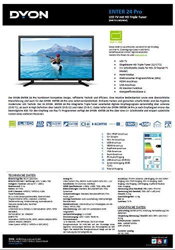 Dyon Enter 24 Pro 60,96 cm (24 Zoll) LED Fernseher (Triple