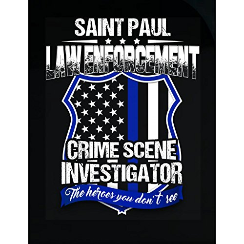 Cool Funky Tees Saint Paul Crime Scene Investigator Law Enforcement Gift - Sticker