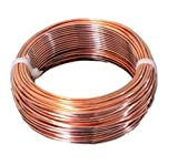 10 AWG Bare Copper Wire 25 Ft Coil Single Solid Copper Wire 99.9% Pure