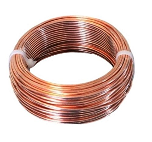 10 AWG Bare Copper Wire 25 Ft Coil Single Solid Copper Wire 99.9% Pure (Single Awg 10)