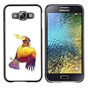 """Be-Star Único Patrón Plástico Duro Fundas Cover Cubre Hard Case Cover Para Samsung Galaxy E5 / SM-E500 ( Pájaro Fire Eagle tinta del dibujo del arte del tatuaje de las alas"""" )"""