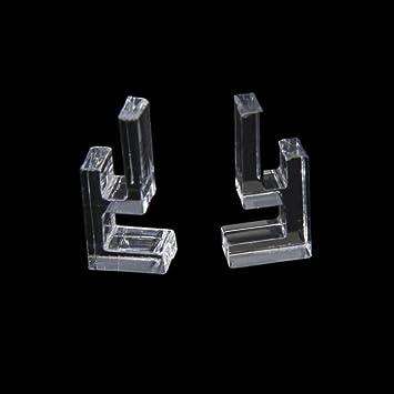 2x mini aquarium tank glasabdeckung kunststoffn clip 6mm ... - Glasabdeckung Küche Preise