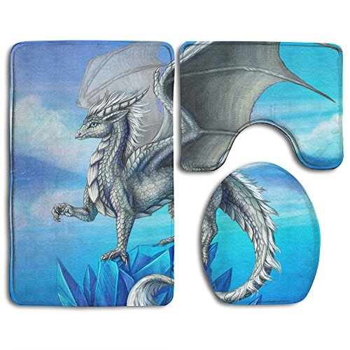 - Silver Dragon Skidproof Toilet Seat Cover Bath Mat Lid Cover