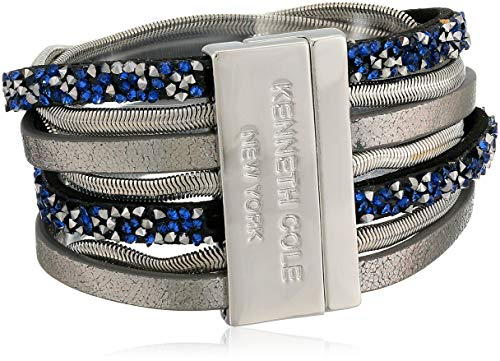 Kenneth Cole Blue Mixed Multi Row Bracelet, One Size