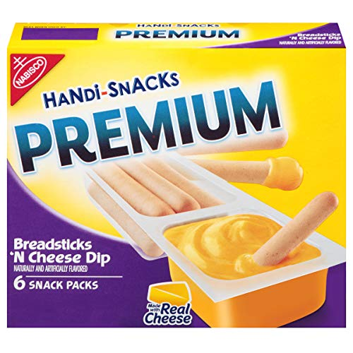 Handi Snacks Premium Breadsticks n Cheese Dip, 6 Packs, 6.54 Ounce