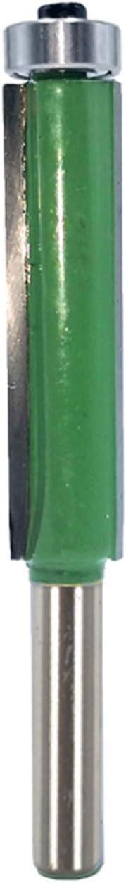 Cutting Edge Length : 8x12.7x50.4mm 1pc 8mm Shank 2 Flush Trim Router Bit with Bearing Template Pattern Bit Tungsten Carbide Milling Cutter, Xuulan Xianglaa-Router bit