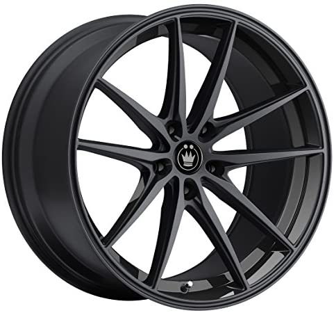Rim 5x112 with a 45mm Offset and a 73.10 Hub Bore Konig Lace 17 Black Wheel Partnumber LA78512455