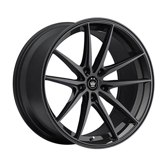 Konig OVERSTEER Gloss Black Wheel with Painted and tpms (18 x 8. inches /5 x 112 mm, 45 mm Offset)