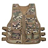 Gskids Tactical Vest Children Adjustable Outdoor Clothing CP Small