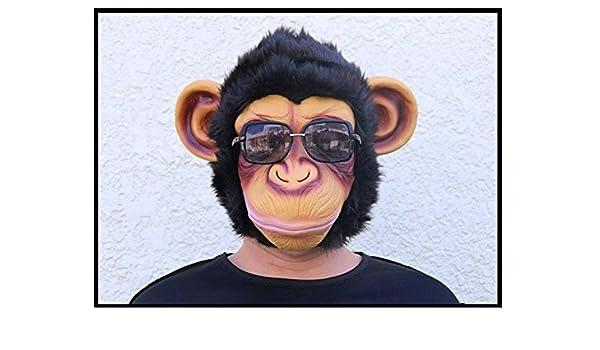 Máscara de Cosplay del mono lanudo gorila Cabeza peluca traje de ...