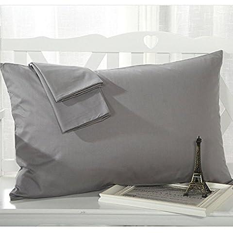 Nimbus Linens 100% Egyptian Cotton 300 Thread Count Standard Solid 2-Piece Pillow case Set (Standard Elephant Grey)