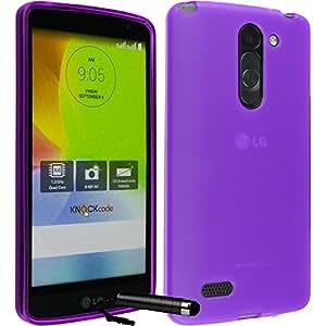 Ownstyle4you LG Magna Cover Case Funda Carcasa Gel TPU MORADO + Pantalla + Puntero