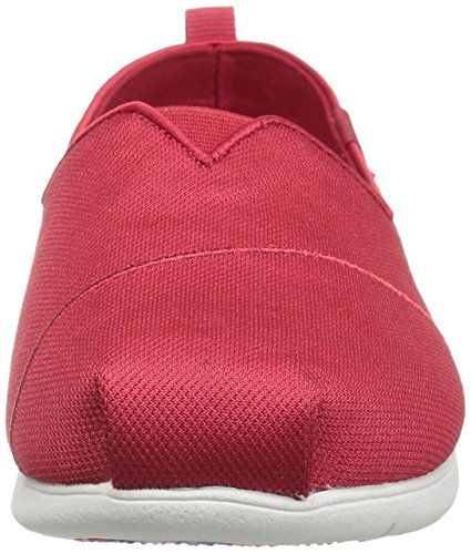 Skechers Bobs Femmes En Peluche Lite Plat Rouge Chic